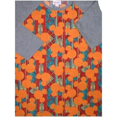 LuLaRoe Randy Medium M Disney Mickey Mouse Womens Raglan Sleeve Unisex Baseball Tee Shirt - M fits 10-12