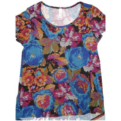 LuLaRoe Classic Tee Small S Floral Womens Shirt fits 6-8