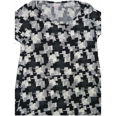 LuLaRoe Classic Tee Small S Geometric Womens Shirt fits 6-8