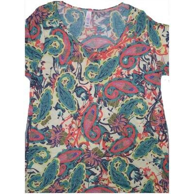 LuLaRoe Classic Tee Small S Paisley Womens Shirt fits 6-8
