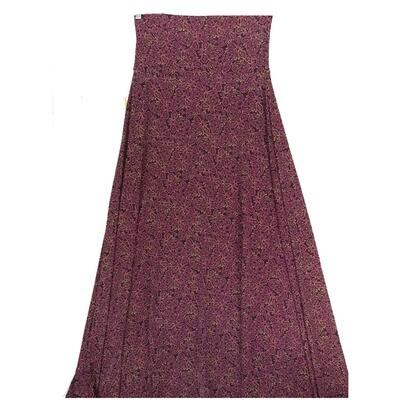 LuLaRoe Maxi X-Small XS Paisley Floral Geometric A-Line Skirt fits Women 2-4