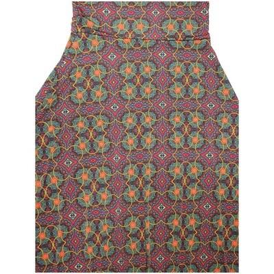 LuLaRoe Maxi X-Small XS Mandala Trippy 70s Geometric A-Line Skirt fits Women 2-4