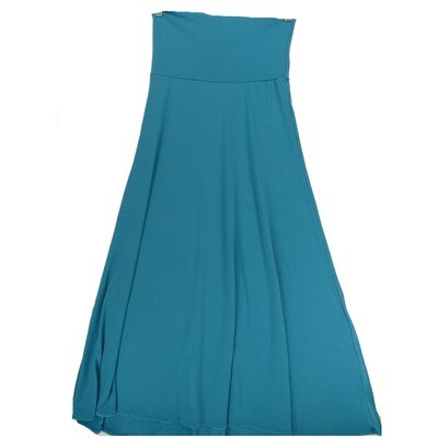 LuLaRoe Maxi X-Small XS Solid Turquoise A-Line Skirt fits Women 2-4