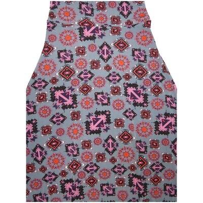 LuLaRoe Maxi X-Small XS Aztek Southwestern Mandala Gray Black Melon Teal Geometric A-Line Skirt fits Women 2-4