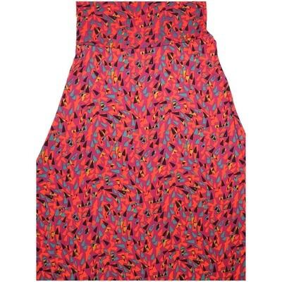 LuLaRoe Maxi X-Small XS Trippy Triangle 70s Geometric A-Line Skirt fits Women 2-4