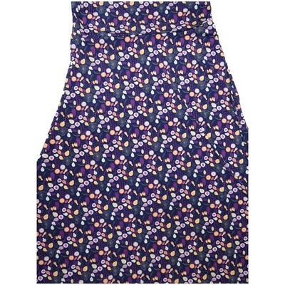 LuLaRoe Maxi X-Small XS Floral Vine Blue Teal White A-Line Skirt fits Women 2-4