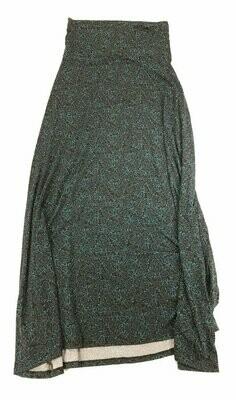 LuLaRoe Maxi X-Small XS Paisley Geometric A-Line Skirt fits Women 2-4