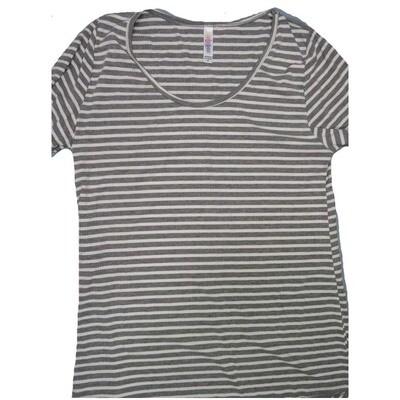 LuLaRoe Classic Tee Medium M Stripe Womens Shirt fits sizes 10-12