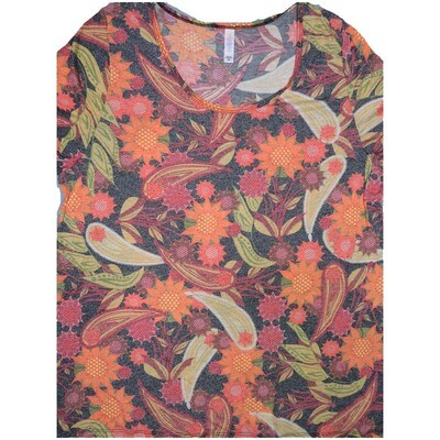 LuLaRoe Classic Tee XXX-Large 3XL Paisley Floral Womens Shirt fits sizes 24-26