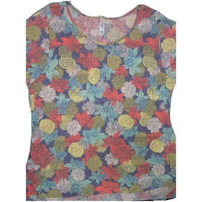 LuLaRoe Classic Tee XXX-Large 3XL Floral Womens Shirt fits sizes 24-26