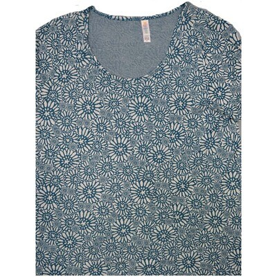 LuLaRoe Classic Tee X-Large XL Floral Womens Shirt fits sizes 18-20