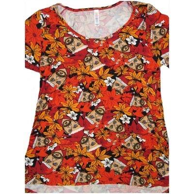 LuLaRoe Classic Tee Medium M Christmas Bearded Elf Womens Shirt fits sizes 10-12