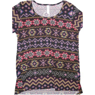 LuLaRoe Classic Tee Medium M Christmas Knit Look Sweater Stripe Womens Shirt fits sizes 10-12