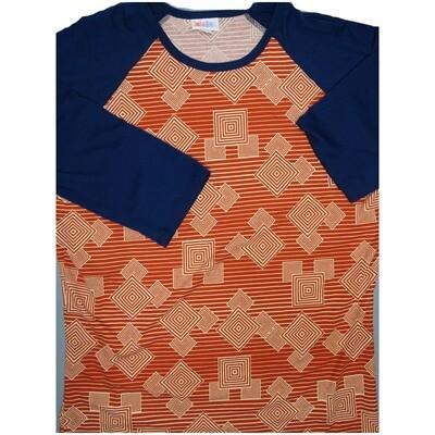LuLaRoe Randy Large L Disney Mickey Mouse Stripe Hypnotic Raglan Sleeve Unisex Baseball Womens Tee Shirt - L fits 14-16