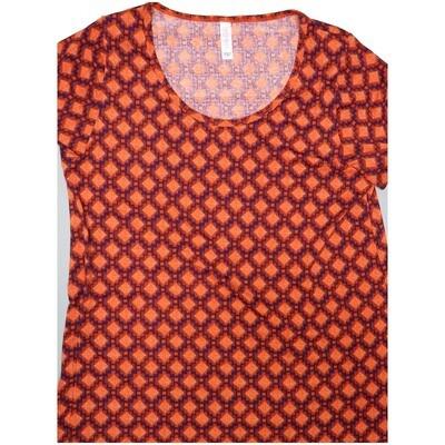 LuLaRoe Classic Tee Large L Diamond Grid Geometric Womens Shirt fits sizes 14-16