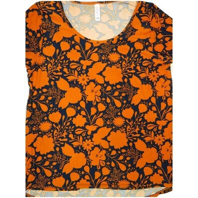 LuLaRoe Classic Tee Large L Floral Womens Shirt fits sizes 14-16