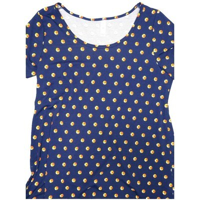 LuLaRoe Classic Tee Large L Polka Dot Womens Shirt fits sizes 14-16
