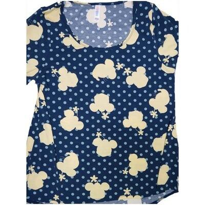 LuLaRoe Classic Tee Large L Disney Minnie Mouse Polka Dot Womens Shirt fits sizes 14-16