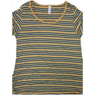 LuLaRoe Classic Tee Large L Stripe Womens Shirt fits sizes 14-16
