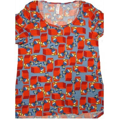 LuLaRoe Classic Tee Medium M Disney Donal Duck Womens Shirt fits sizes 10-12