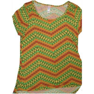 LuLaRoe Classic Tee Medium M Disney Kermit the Forg Diagonal Stripe Womens Shirt fits sizes 10-12