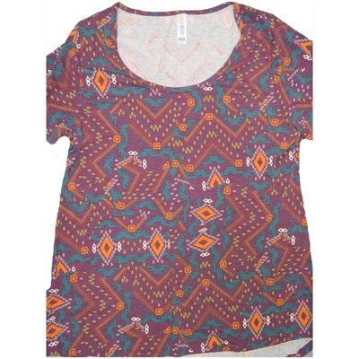 LuLaRoe Classic Tee Medium M Geometric Diamond Womens Shirt fits sizes 10-12