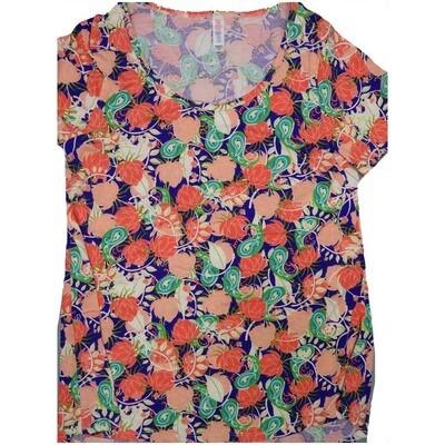 LuLaRoe Classic Tee Medium M Floral Paisley Womens Shirt fits sizes 10-12