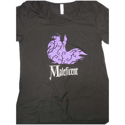 LuLaRoe Classic Tee Medium M Disney Maleficent Womens Shirt fits sizes 10-12