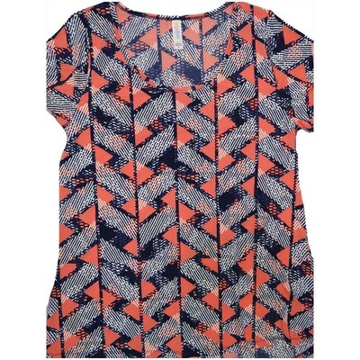 LuLaRoe Classic Tee Medium M Geometric Stripe Womens Shirt fits sizes 10-12