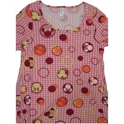 LuLaRoe Classic Tee Medium M Disney Minnie Mouse Polka Dot Womens Shirt fits sizes 10-12