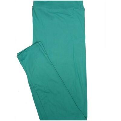 LuLaRoe Tall Curvy TC Solid Cyan Womens Leggings fits Adult sizes 12-18