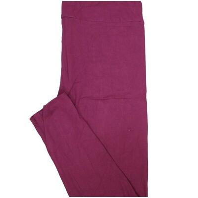 LuLaRoe Tall Curvy TC Solid Dark Red Wine Womens Leggings fits Adult sizes 12-18