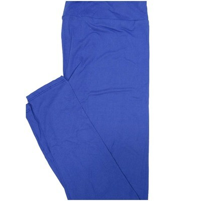 LuLaRoe Tall Curvy TC Solid Kentucky Blue Womens Leggings fits Adult sizes 12-18