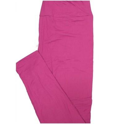 LuLaRoe Tall Curvy TC Solid Magenta Womens Leggings fits Adult sizes 12-18
