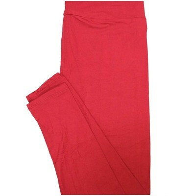 LuLaRoe Tall Curvy TC Solid Dark Red Womens Leggings fits Adult sizes 12-18