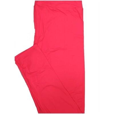 LuLaRoe Tall Curvy TC Solid Hot Pink Womens Leggings fits Adult sizes 12-18