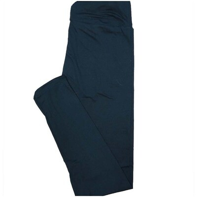 LuLaRoe One Size OS Solid Midnight Blue (194326) Womens Leggings fits Adult sizes 2-10