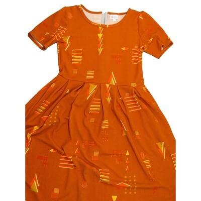 LuLaRoe Amelia Large L Geometric Womens Pocket Dress for sizes 14-16