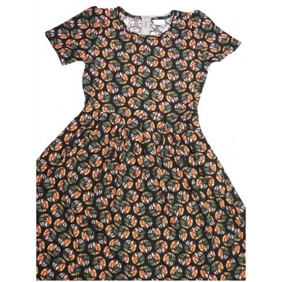LuLaRoe Amelia Large L Geometric Polka Dot Womens Pocket Dress for sizes 14-16