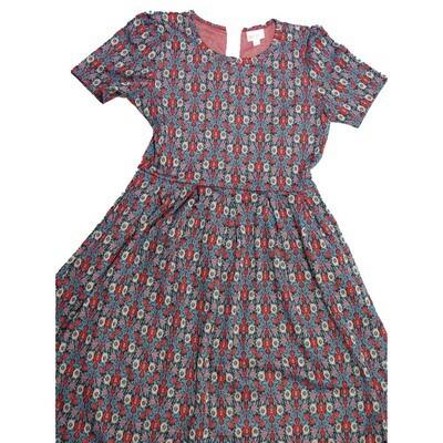 LuLaRoe Amelia Large L Floral Womens Pocket Dress for sizes 14-16