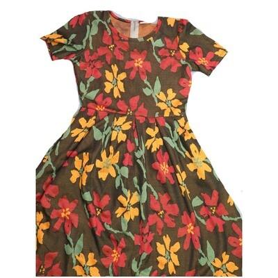LuLaRoe Amelia Medium M Floral Womens Pocket Dress for sizes 10-12