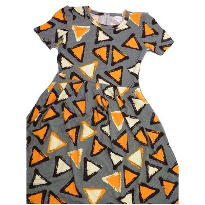 LuLaRoe Amelia Medium M Geometric Triangles Womens Pocket Dress for sizes 10-12