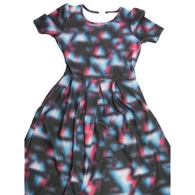 LuLaRoe Amelia Medium M Trippy Geometric Womens Pocket Dress for sizes 10-12