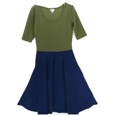 LuLaRoe Amelia Medium M Two Tones Womens Pocket Dress for sizes 10-12