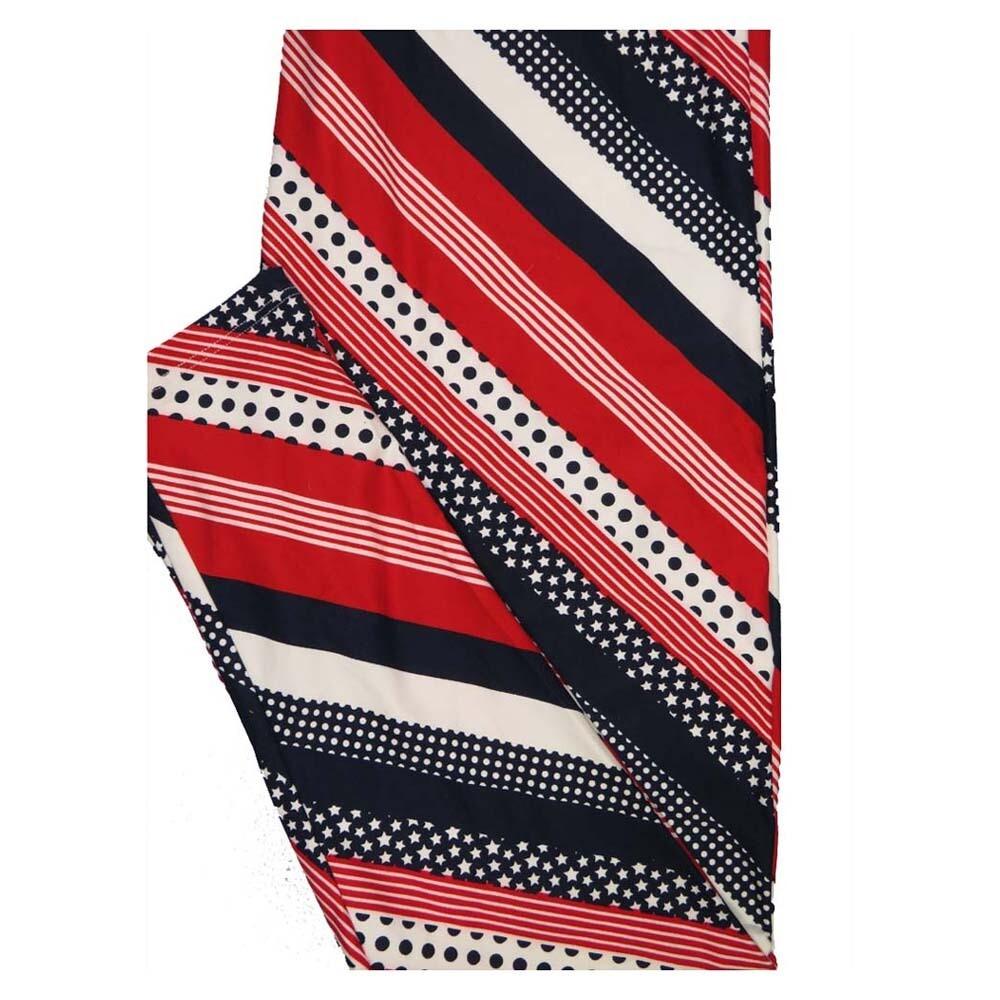 LuLaRoe TC2 Americana USA Stars and Stripes Red White Blue Buttery Soft Leggings fits Adults 18+