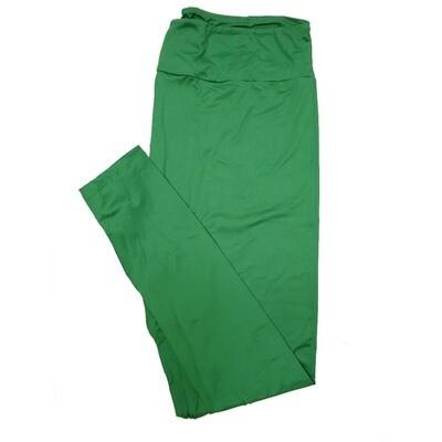 LuLaRoe TC2 Solid Emerald Green 423356 Leggings Tall Curvy 2 fits Sizes 18+