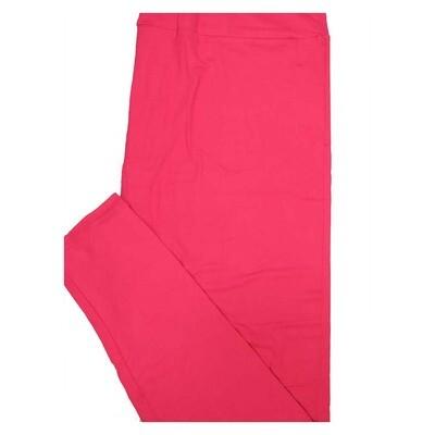 LuLaRoe TC2 Solid Bright Pink Womens Leggings fits Adult sizes 18+
