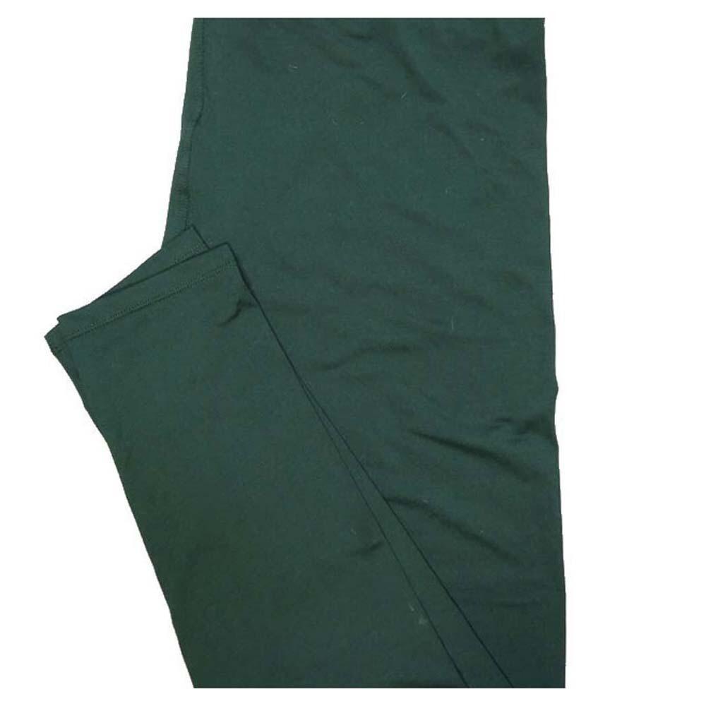 LuLaRoe TC2 Solid Army Green Womens Leggings fits Adult sizes 18+
