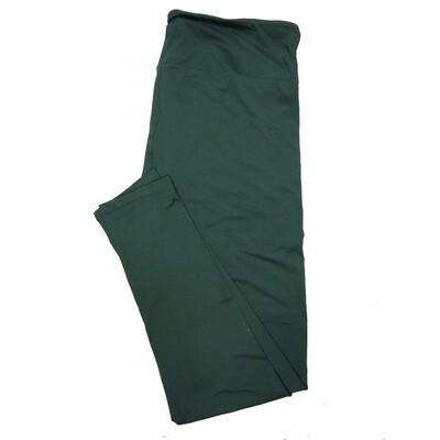 LuLaRoe TC2 Solid Pine Green Womens Leggings fits Adult sizes 18+