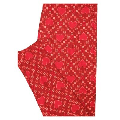 LuLaRoe TC2 Valentines Checkerboard Hearts Red Pink White Buttery Soft Leggings fits Adults 18+